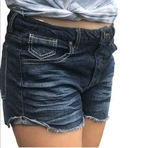 Mudd Cut off Shorts distressed Dark Blue Denim
